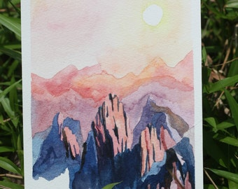 Mountains and Sunset