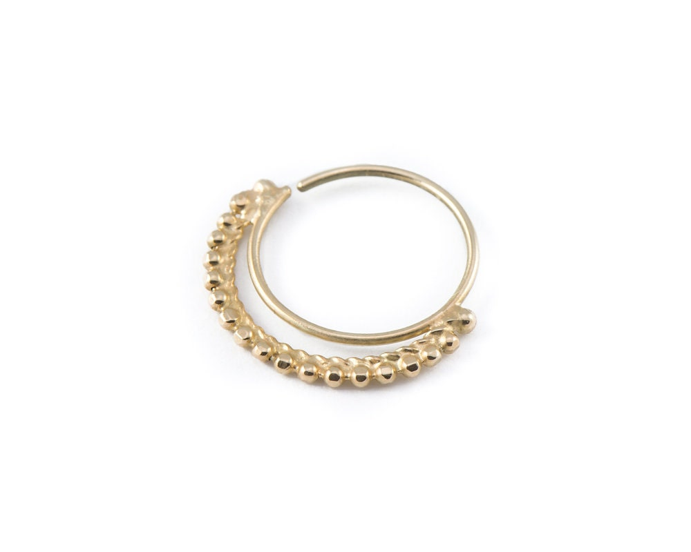 solid gold nostril ring tribal nose ring indian by studiomeme
