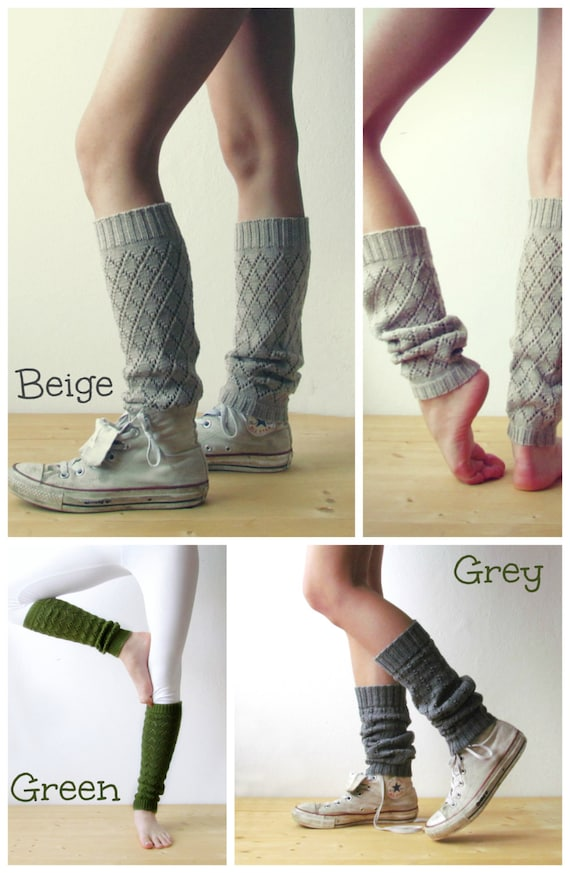 Women Leg Warmers In Light Beige / Boot Cuff / Urban Clothing