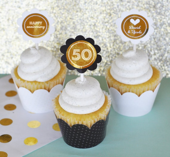 50th Birthday Decorations For Cupcakes Image Inspiration of Cake