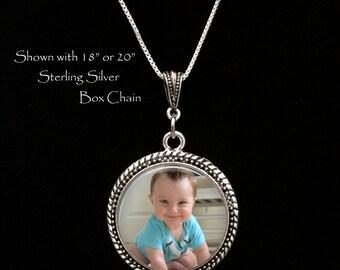 Photo Necklace, Photo Pendant, Custom Photo Jewelry, Personalized Keepsake Jewelry, Your photo on a necklace, custom photo necklace,sterling
