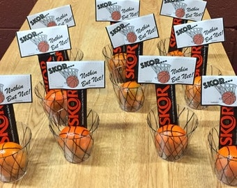 Basketball Treat Bag Toppers - Skor...Nothing But Net - Instant Download - Printable