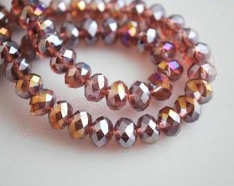 12x8 Sunset AB Crystal Rondelles