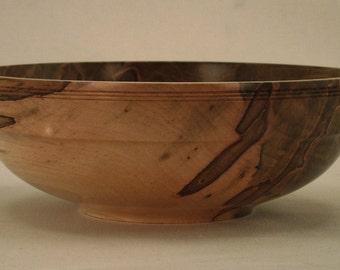 Ambrosia Maple Wood Bowl Wooden Bowl Fine Woodworking Woodturning Lathe Turned 1235