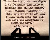 "John Muir Quote ""I am losing precious days..."""