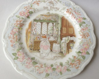 The Dairy plate - Brambly Hedge by Royal Doulton - 8-inch plate