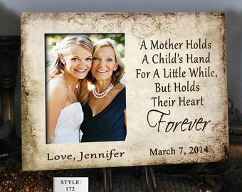 """MOTH/HAND: 8x10"""" Holds 4x6"""" Photo Mother of the Bride Gift Mother in Law Gift Mothers Day Frame Personalized Picture Frames Wedding Gift"""