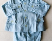 All blue shirt and child bloomer 1950/60