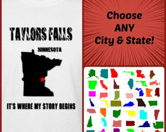 Hometown Shirt ..ANY City, State ..It's where my store begins t-shirt
