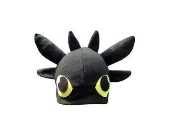 Toothless cosplay black dragon fleece hat