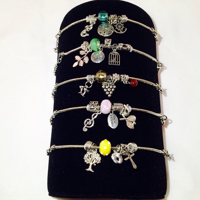 Design Your Own Custom Bangle Charm Bracelet Pick Your Charms: CHARM Bracelet Custom Design Your Own Charm Bracelet