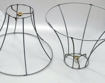 On SALE  All Wire Shade Frames for Lamps or Hanging Pendants, Industrial and Steampunk Shades for lamps