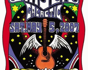 John Mayer Galactic New Orleans 2007 Concert Poster