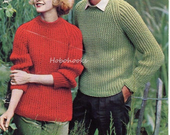 Chunky rib sweater | Etsy