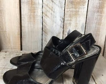 Narrow Heels  - Bcbg shoes - bcbg heels - Size 9 B - women - Narrow Shoes women - Black High Heels - Black Platform Heels