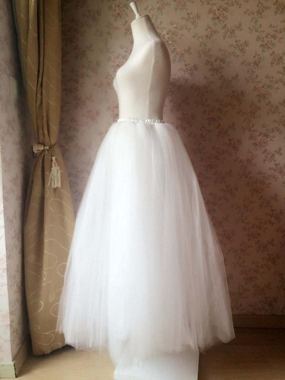 length tulle skirt white ivory maxi tutus by
