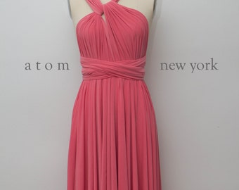 Coral Bridesmaid Dress Etsy