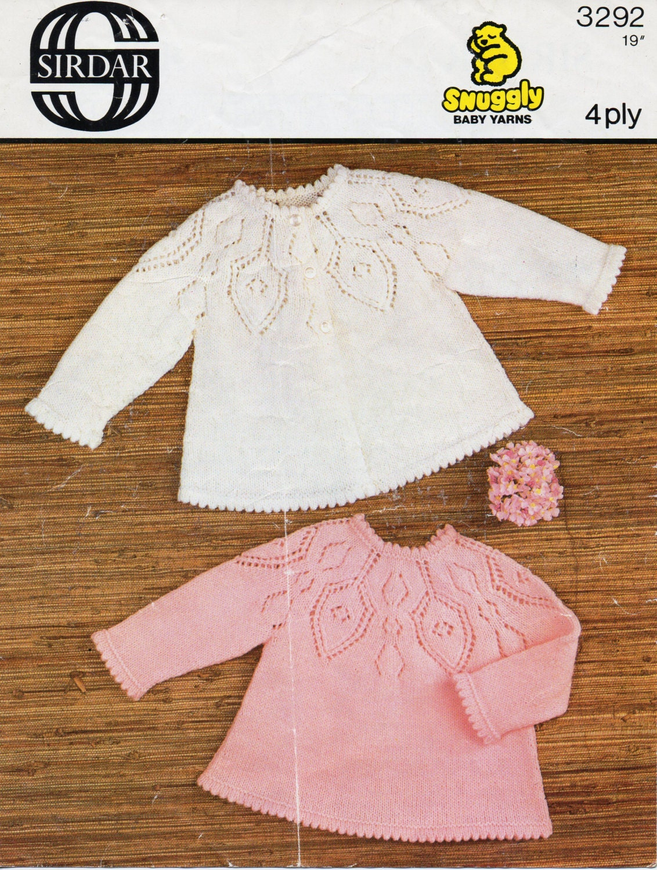 Baby Knitting Pattern Baby Matinee Coat Baby Angel Top Baby