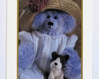 Teddy Bear Greeting Card - Violet