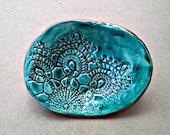 Malachite green Lace Ring Dish