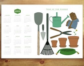 12x18 The Year of the Garden 2015 Large Wall Calendar Poster great gift for teachers, gifts for gardeners