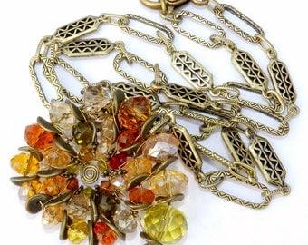 Nautilus Pendant, Ammonite Jewelry, Autumn Necklace