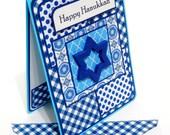 Hanukkah Card with Matching Embellished Envelope