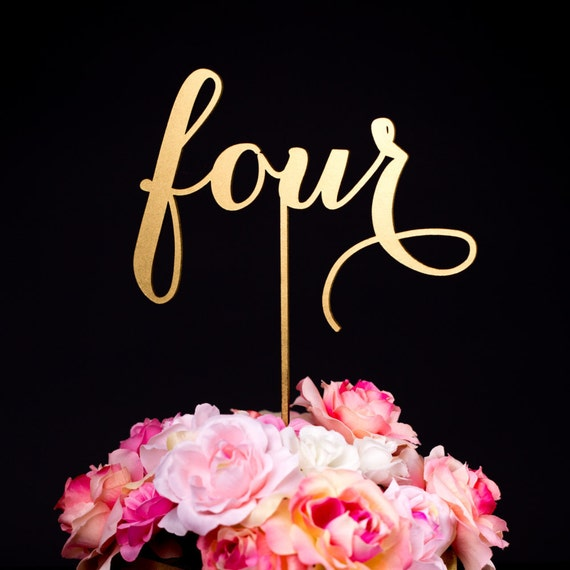 Cake Decor Numbers : Items similar to Wedding Table Numbers or Cake Toppers ...
