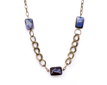 Chunky Chain Necklace,Agate Chain Necklace