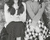 Featured in MATERIAL GIRL Magazine Pleated Checkered Skirt. - LG. 36 inch Waist. // Wool. Black and White, Plaid.