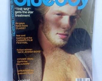 Vintage 1978 Blueboy Magazine