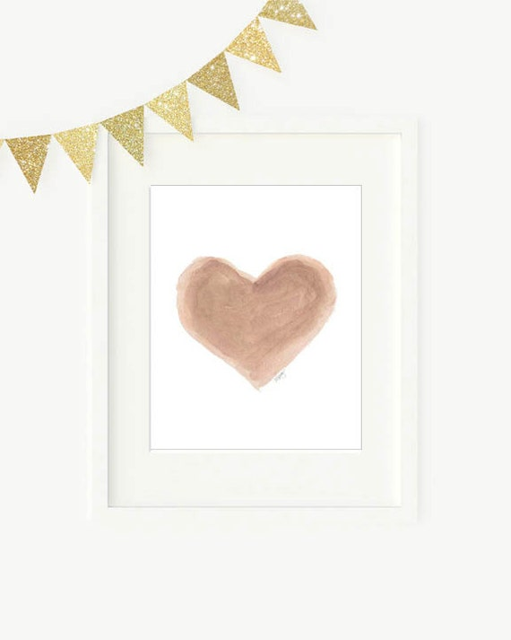 Natural Heart Print for Gender Neutral Decor, 5x7, 8x10