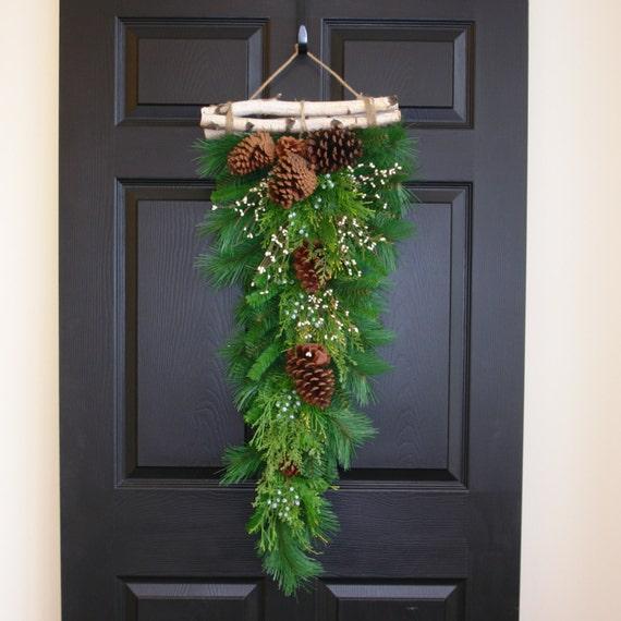 Christmas Swags Decorations: Christmas Wreath Winter Wreaths Christmas Swag Birch Bark