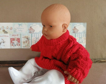 Baby Knit Clothes, Red Cable, Knit Baby Jumper, Jackets, Sweater, Toddler Wool Clothes Children Clothes, Kids Clothes Handmade Australia