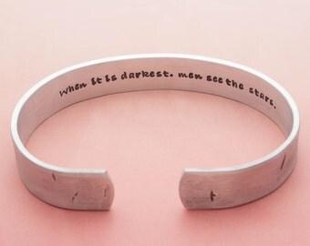 Custom Mens Jewelry, Personalized Dad Gift, Secret Message, Custom Cuff Bracelet, Rustic Bracelet, Hand Stamped, Mens Bracelet, Gift for Him