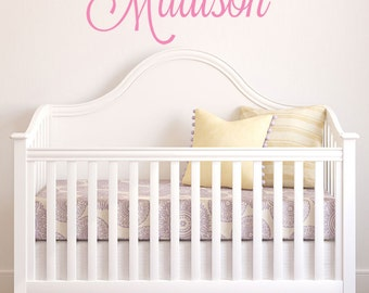 Kids Name Wall Decal - Personalized Children's Name Decal - Custom Girls Name Vinyl Wall Decals