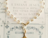 Chaplet of Saint Thérèse in Opalite & 18K Gold Vermeil