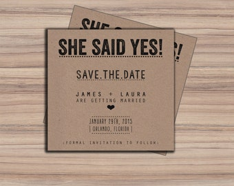 Printable Save The Date Card - Save The Date - Printable Wedding - Printable Wedding Invitations - Amore Collection - I