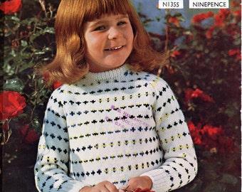 Girls Knitting Patterns Girls Cardigan V Neck Cardigan Lacy