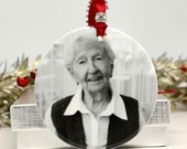 Heaven Ornament Dedication Ornament Group Family Gift Photo Ornament Black and White Picture Ornament Quote Ornament Loved One Memorial