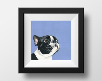 Custom Pet Portrait Hand Painted from Your Photo - 5x7 Inch Illustration of your Pet - Great gift idea for Animal Lovers