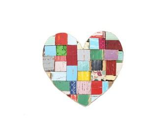 Heart Blocks Multicolor Medium