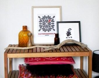 Cathrineholm lotus, Crochet pattern, Original print, Original artwork, Mid Century Modern poster, Wall decor