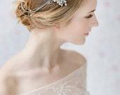 Bridal Hair Chain , Pearl Wedding Hair Piece , Bridal Hair Swag , Wedding Headpiece , Bridal Hair Wrap, Wedding Hair Acccessories