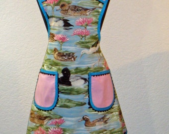 Women's Duck And Egret Full Apron