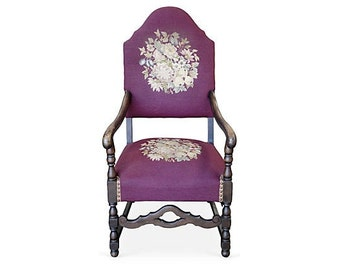 SALE!!! Needlepoint Captains Chair
