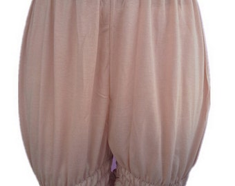 L3CBW BROWN Bloomers Handmade Half Slips Pettipants Plus Size COTTON  Women Ladies Shorts
