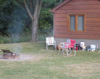 Camping Photo, Rural Setting, Cabin, Country Photography, Ready to Camp