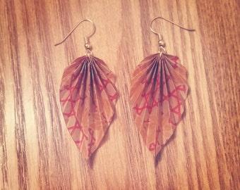 Marqué Origami Leaf Earrings