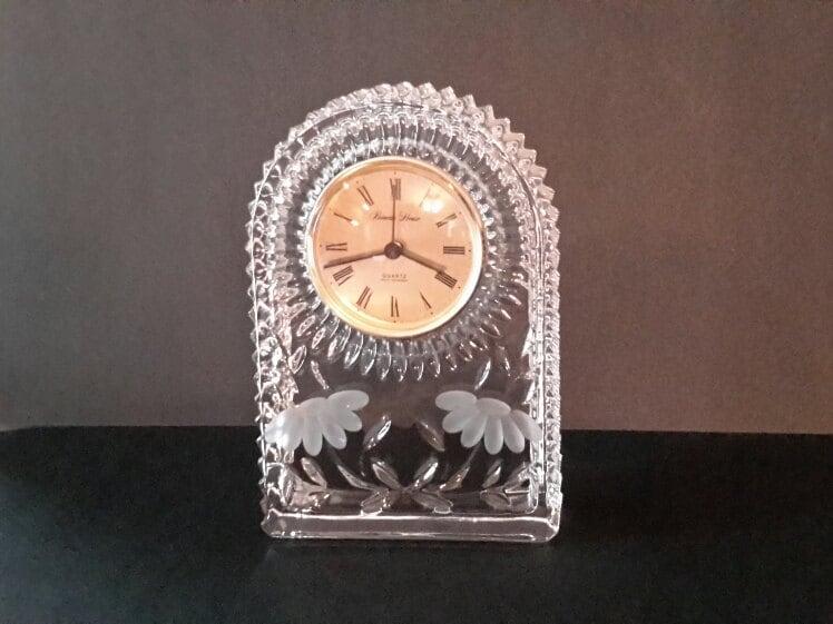Princess House Clock Crystal Clock Mantle Clock Heritage